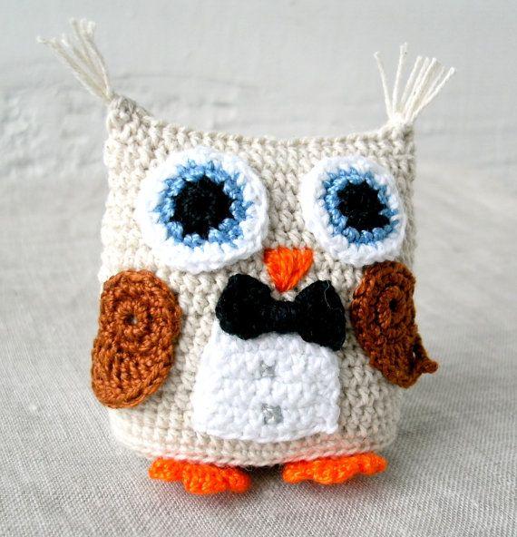 Crochet Amigurumi Owl - The Tuxedo Owl | Owl, Lechuzas y Los buhos
