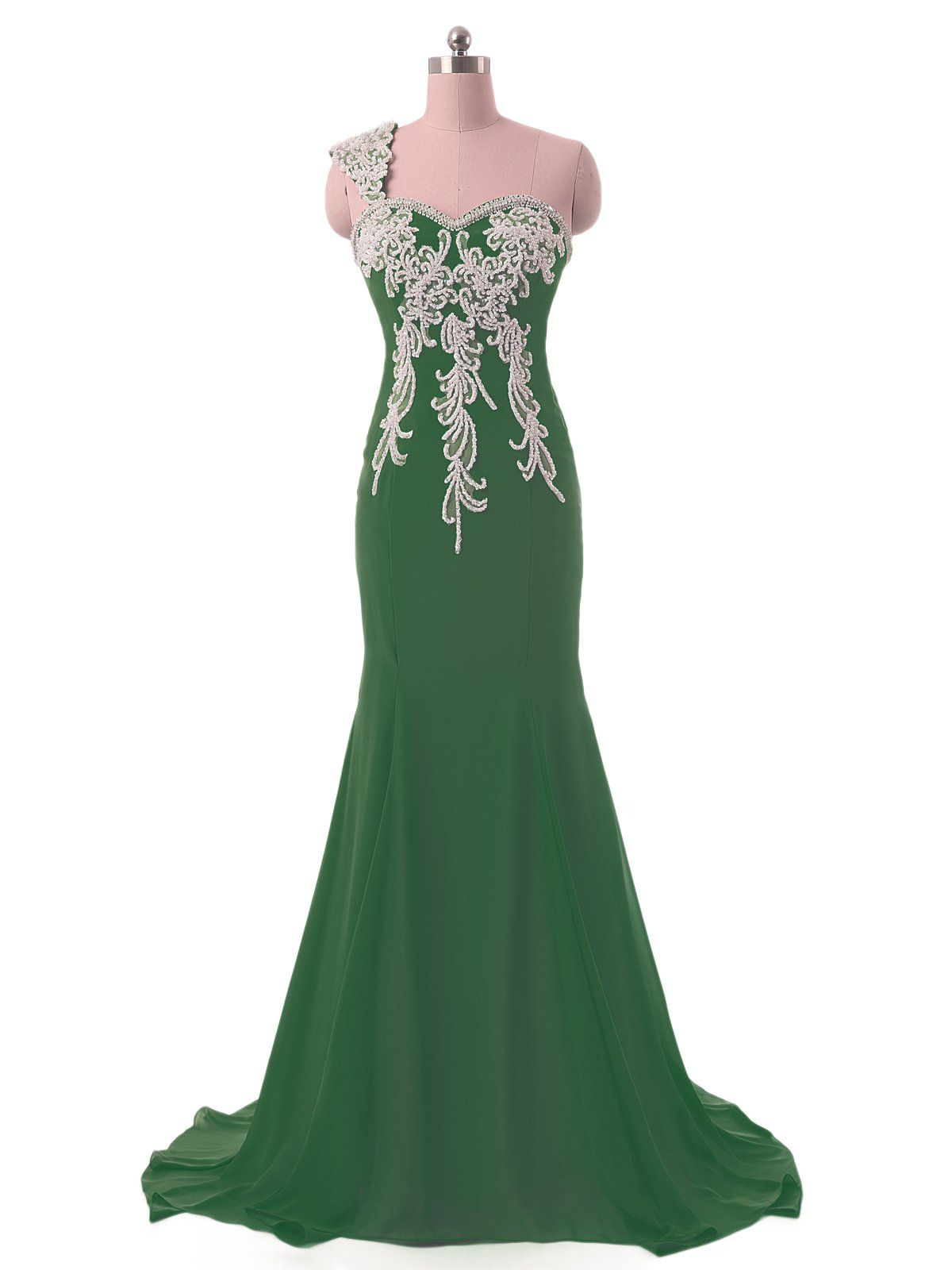 Defeina long womenus one shoulder evening dresses plus size mermaid