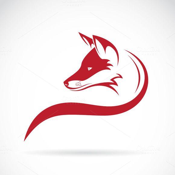 Vector Image Of An Fox Head Fox Logo Design Fox Images Fox Pictures