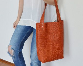 Leather tote/ Leather Shopping Bag/ Leather bag/ Women/ by byNizzo ...