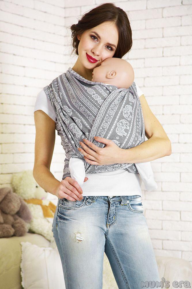 Mum S Era Elephant Grey Wrap Moby Wrap Fashion Baby Wrap Carrier