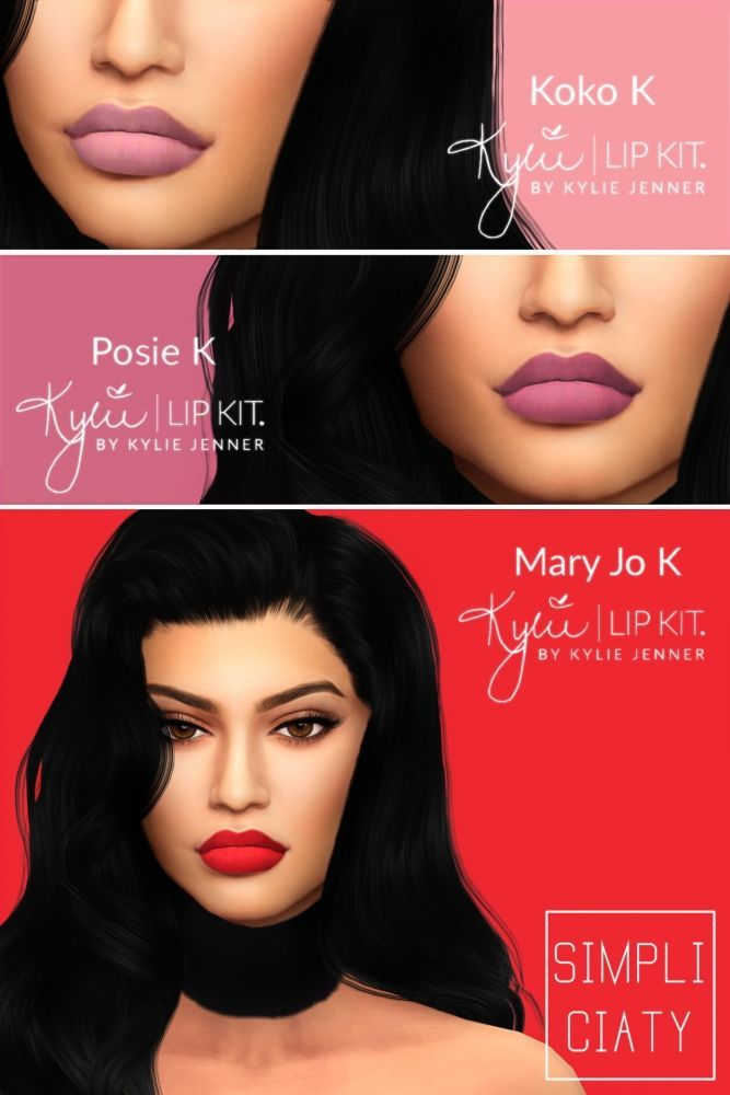 Kylie Lip Stain: Kylie Lip Kit V2 At Simpliciaty • Sims 4 Updates