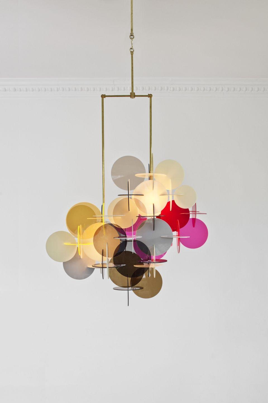 vibeke fonnesberg schmidt s plexi brass chandeliers. Black Bedroom Furniture Sets. Home Design Ideas