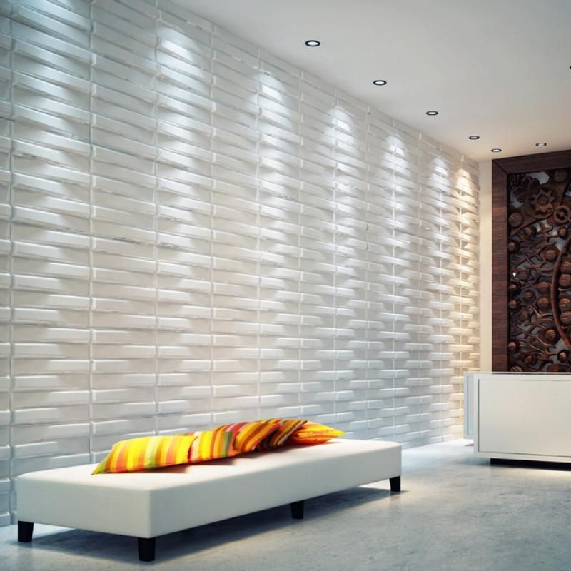 Contemporary 3d wallpaper in minimalist modern house wall for Modern minimalist house interior design