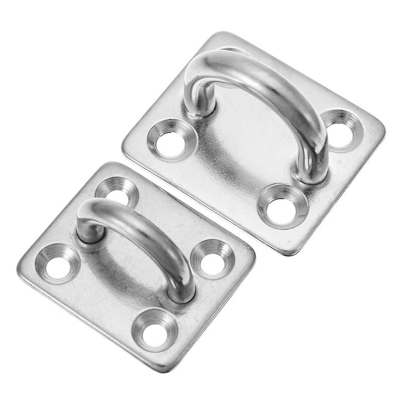 Us 1 96 2 46 5mm 6mm 304 Stainless Steel Square Pad Eye Ring Latch Plate Marine Boat Rigging Hardware Stainless Steel Squa Eye Ring Marine Boat Hardware