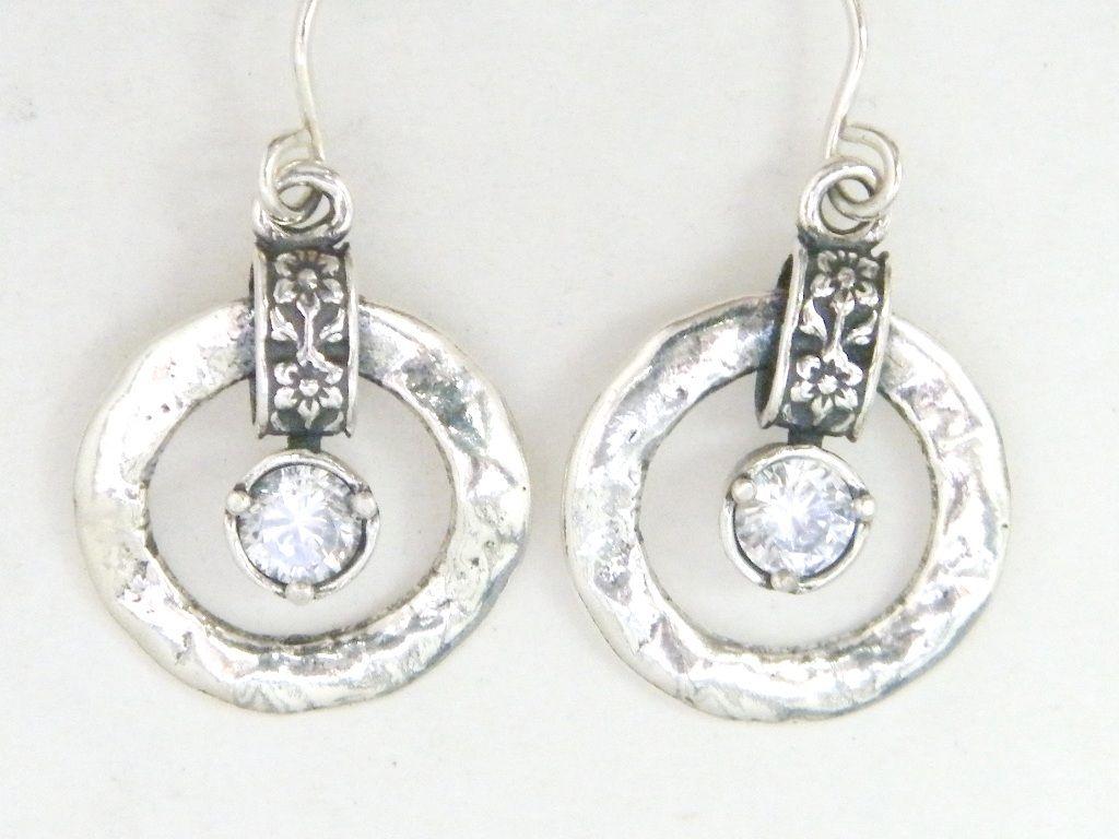 Designer earrings sterling silver earrings zircon earrings