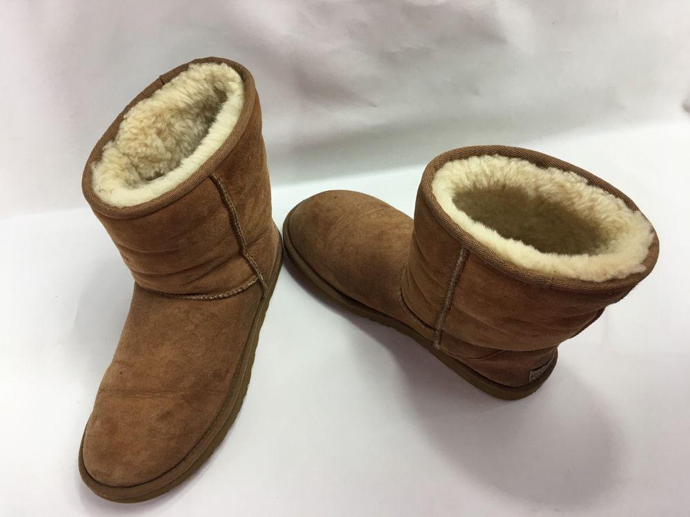 d9b311841a2 UGG Women's Classic Short Sheepskin Mid-Calf Boots 5825 in Chestnut ...