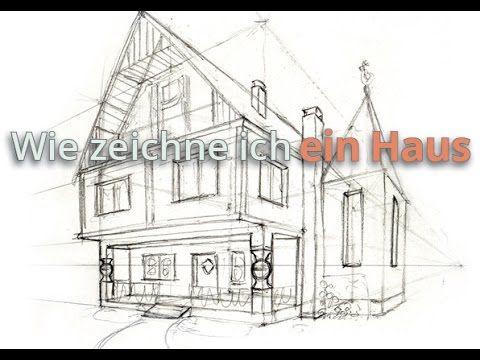 wie zeichne ich ein haus vorzeichnung zeichnen tutorials pinterest zeichnen h user. Black Bedroom Furniture Sets. Home Design Ideas