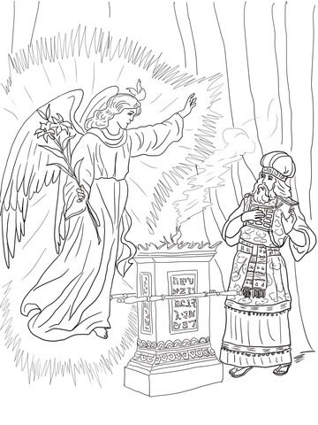 Angel Visits Zechariah Coloring Page From John The Baptist Category Select 20946 Printable Crafts Of Cartoons Nature Animals Bible And Many More