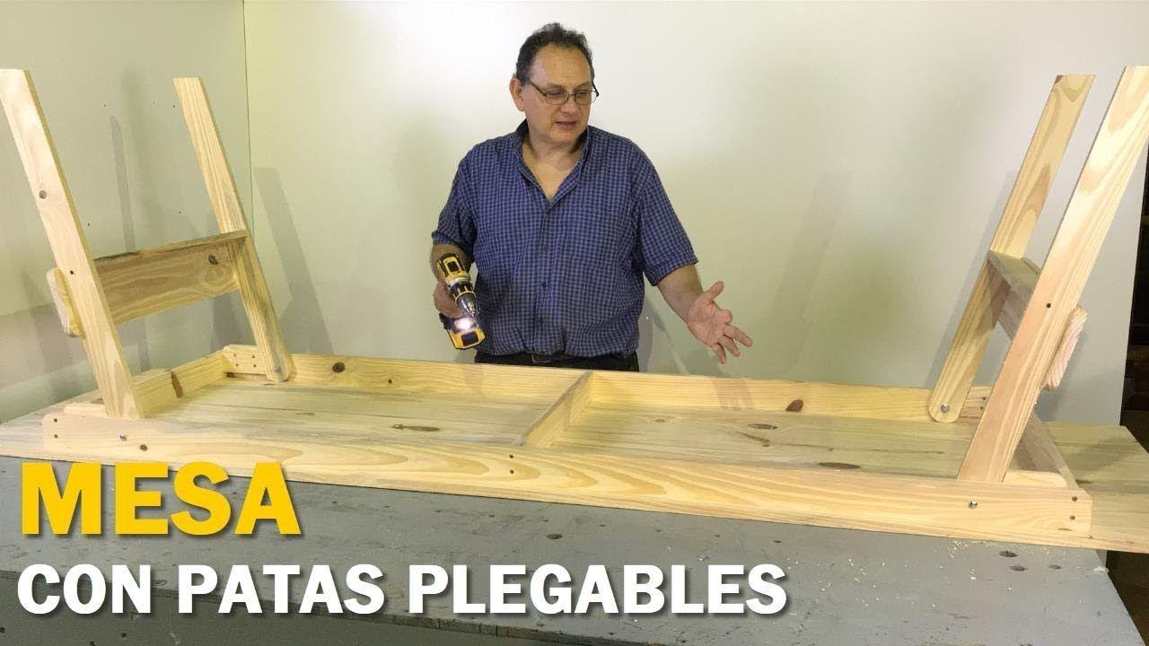 MESA PLEGABLE DE MADERA FÁCIL PASO A PASO TUTORIAL DE