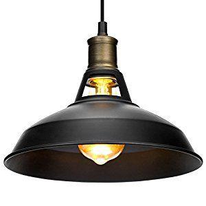 Vintage Pendant Light Oak Leaf Black Bronze Ceiling Lamp Shade, Industrial Retro Hanging Light Metal Chandelier for Modern Loft Bar Cafe Living Room, E27: Amazon.co.uk: Kitchen & Home