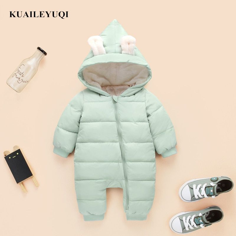 db3e88b04 2018 spring autumn Warm baby girl boy Snowsuit down cotton baby ...