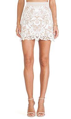 Guipure Lace Skirt in White (Self-Portrait) 255