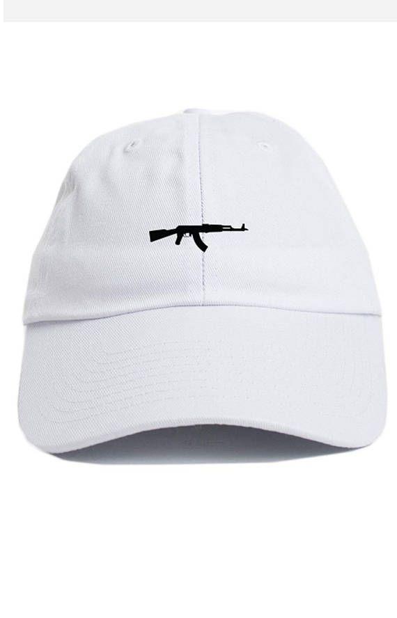 5eea2345b695f AK-47 Chopper Dad Hat Adjustable Baseball Cap New - White