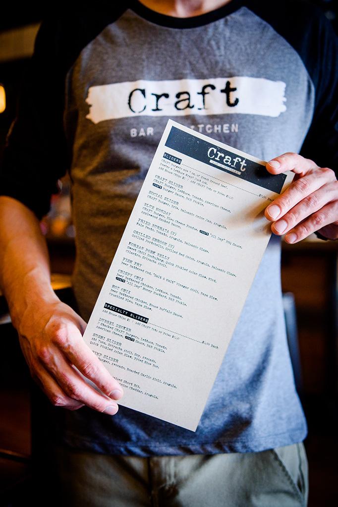 Art Of The Menu Craft Bar Kitchen Kitchen Bar Menu Inspiration Crafts