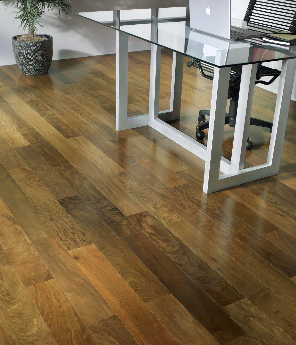 Brazilian ebony hardwood flooring - Brazilian Walnut Hardwood Flooring Close Up In The Home Office