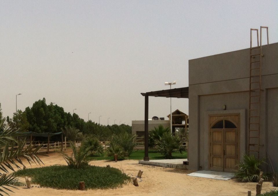 Animal hospital near milking parlour at Yasmin Farm, Wafra