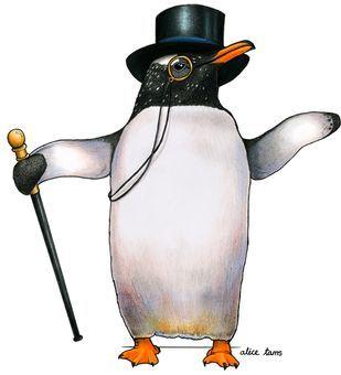 Follow Birds In Hats Bird Artwork Penguins Penguin Art
