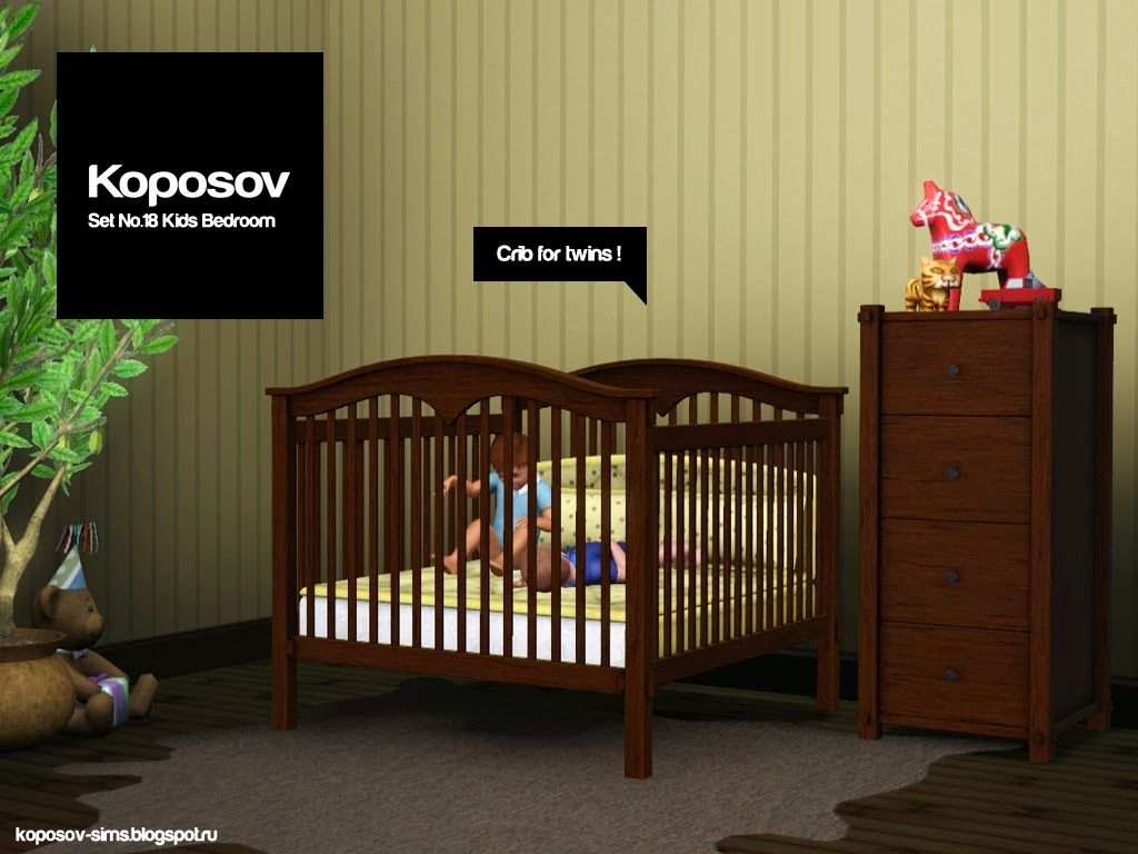 Rib For Twins Adfly Download Link Sims Baby Sims 3 Cribs