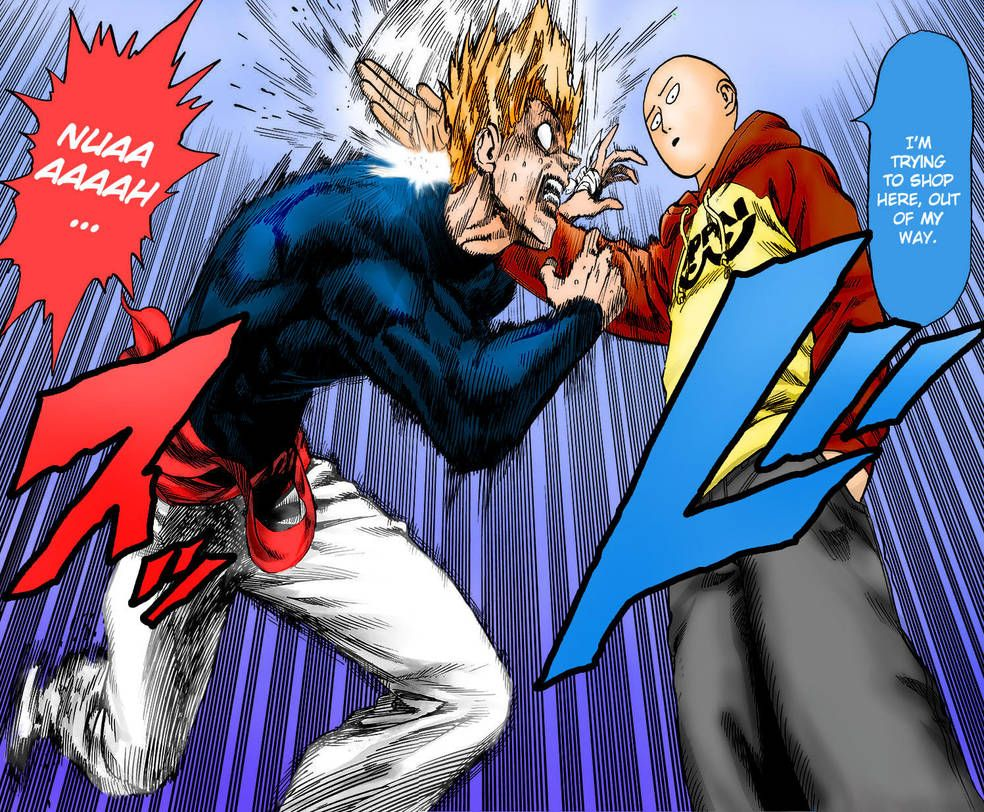 One Punch Man - Garou vs Saitama (1st Round) by Knight133 | Onepunch