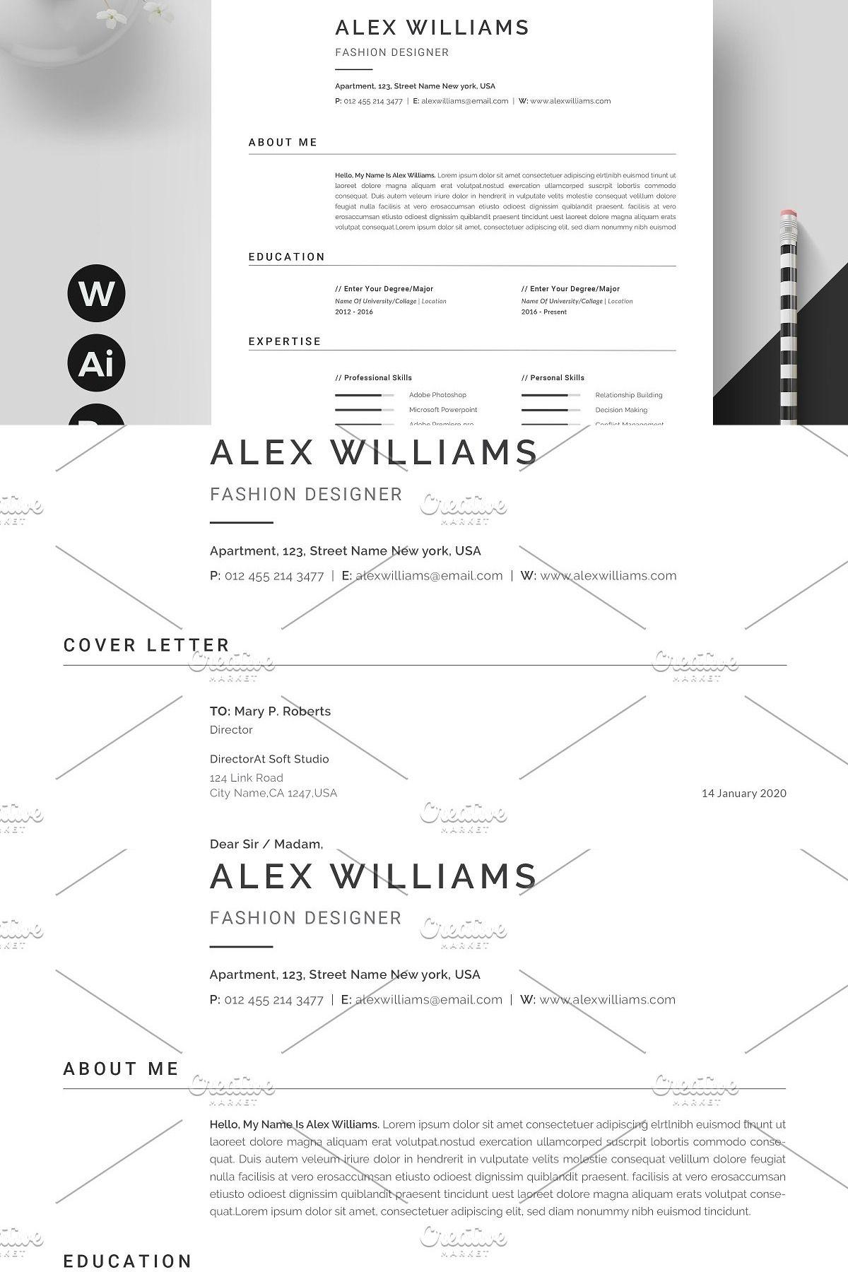 Resume Template / CV Clean resume template, Resume