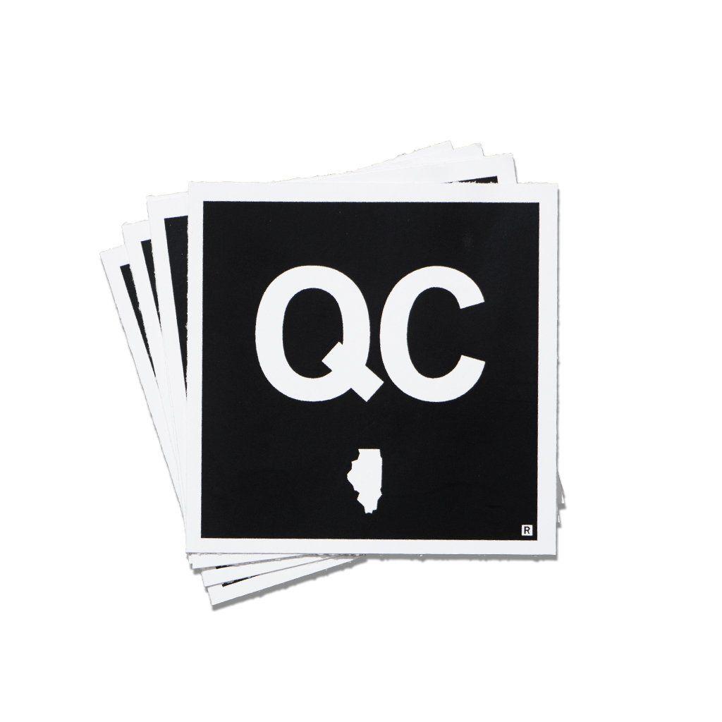 Qc Illinois Logo Mini Sticker Vinyl Sticker Design