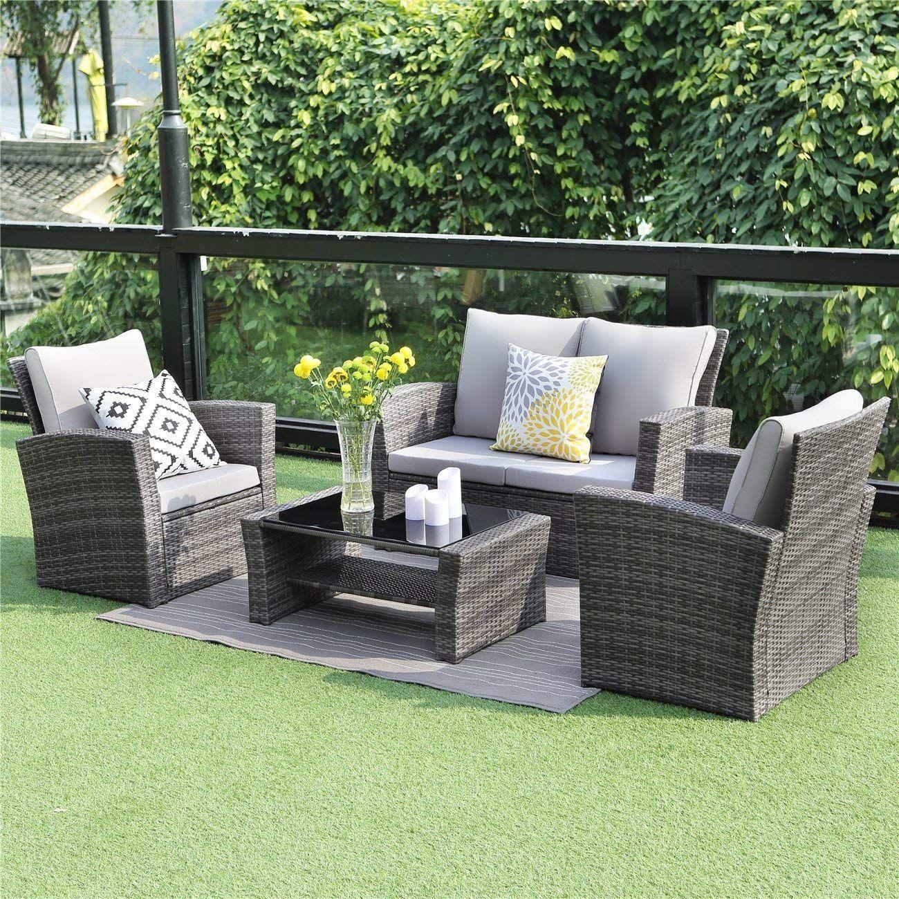 Awe Inspiring Amazon Com Wisteria Lane 5 Piece Outdoor Patio Furniture Home Interior And Landscaping Ologienasavecom