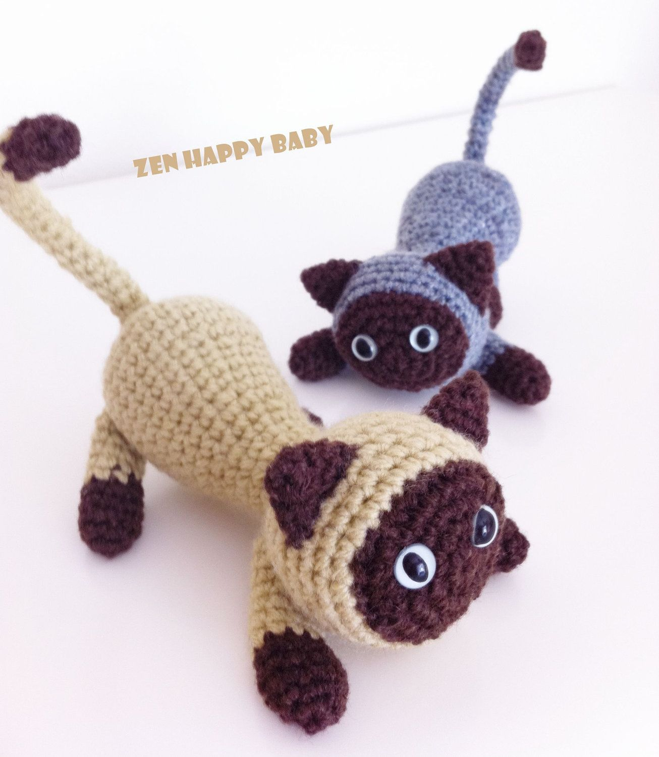 Siamese Cat - Amigurumi Crochet Pattern in 2020 | Stuffed animal ... | 1500x1306