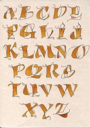 Bien Que Je N Aie : Alphabet, Dessiné, Arrêté, Calligraphie..., D'ailleurs, Appris, Plusie…, Lettertype, Alfabet,, Lettertypen, Kalligrafie