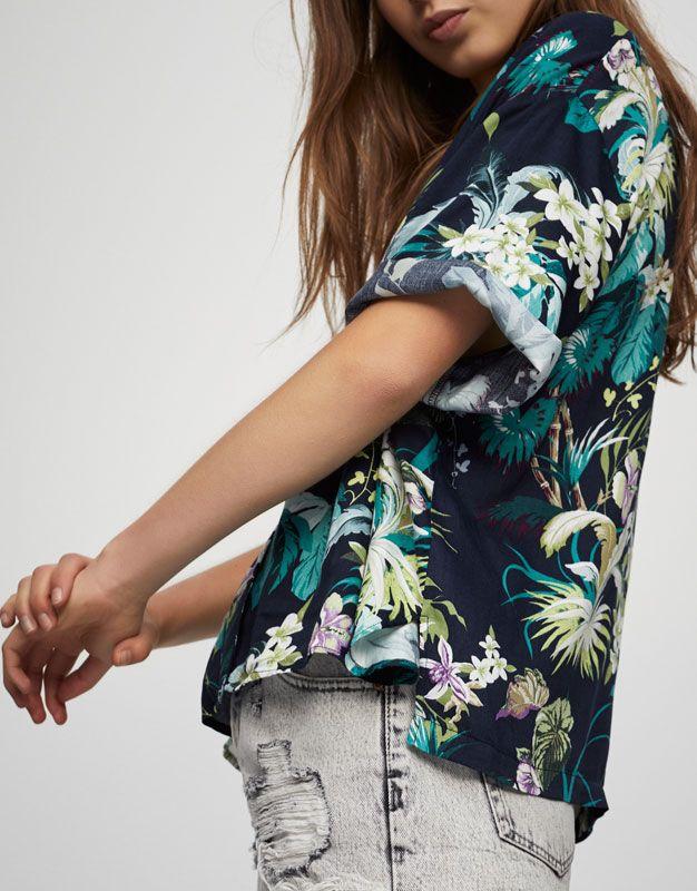 100% de garantía de satisfacción los mejores precios estilo actualizado Camisa estampado tropical - Blusas y camisas - Ropa - Mujer ...