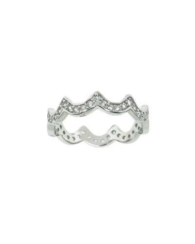Sterling Silver Pave Diana Ring