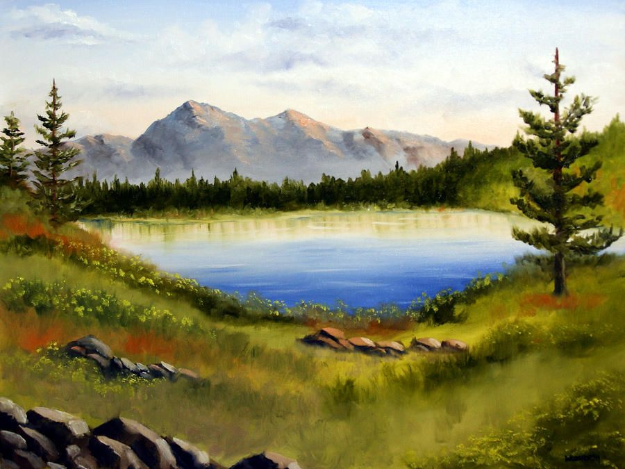 easy landscape to paint | Landscape Oil Painting Painting ...