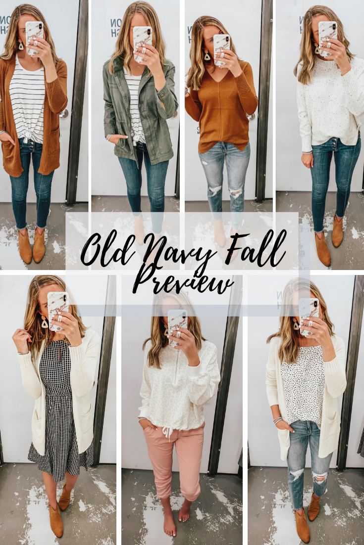 Old Navy fall fashion, fall sweaters, jean trends for 2019, joggers, leopard, the hottest color for fall 2019, fall outfits