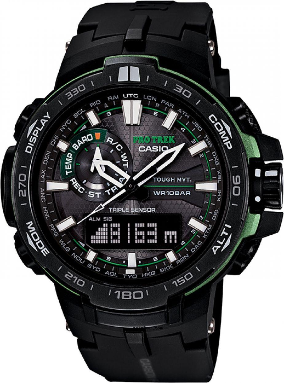 Casio Pro Trek Prw 6000y 1adr Kol Saati Siyah Kaslar Saatler Watches