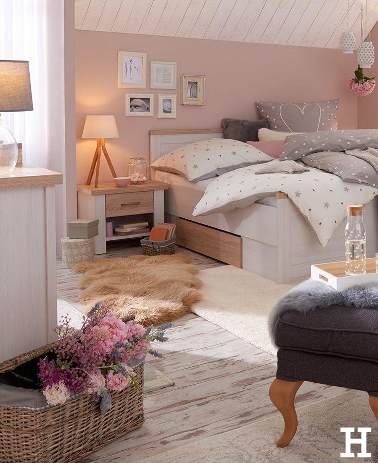 Bett Mit 2 Nachtkommoden Lancaster Gefunden Bei Mobel Hoffner Vintage Schlafzimmer Ideen Wanddekor Schlafzimmer Gemutliche Jugendzimmer