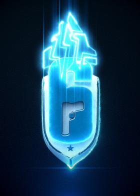 Videogames By Jose Barrera Metal Posters Displate Rainbow Six Siege Art Metal Posters Jordan Logo Wallpaper