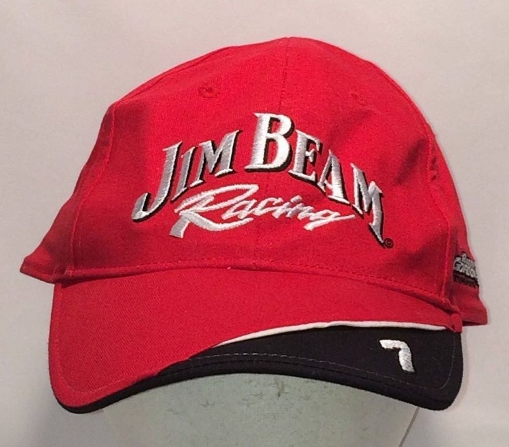 0b039fb9a78 Jim Beam Racing Hat Baseball Cap Kentucky Bourbon Whisikey Hats. Find Baseball  Caps like this