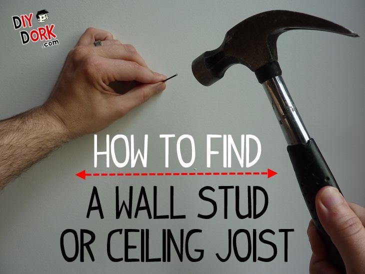 How To Find A Wall Stud Or Ceiling Joist 2 Easy Ways Stud Walls Finding Studs In Wall Stud Finder