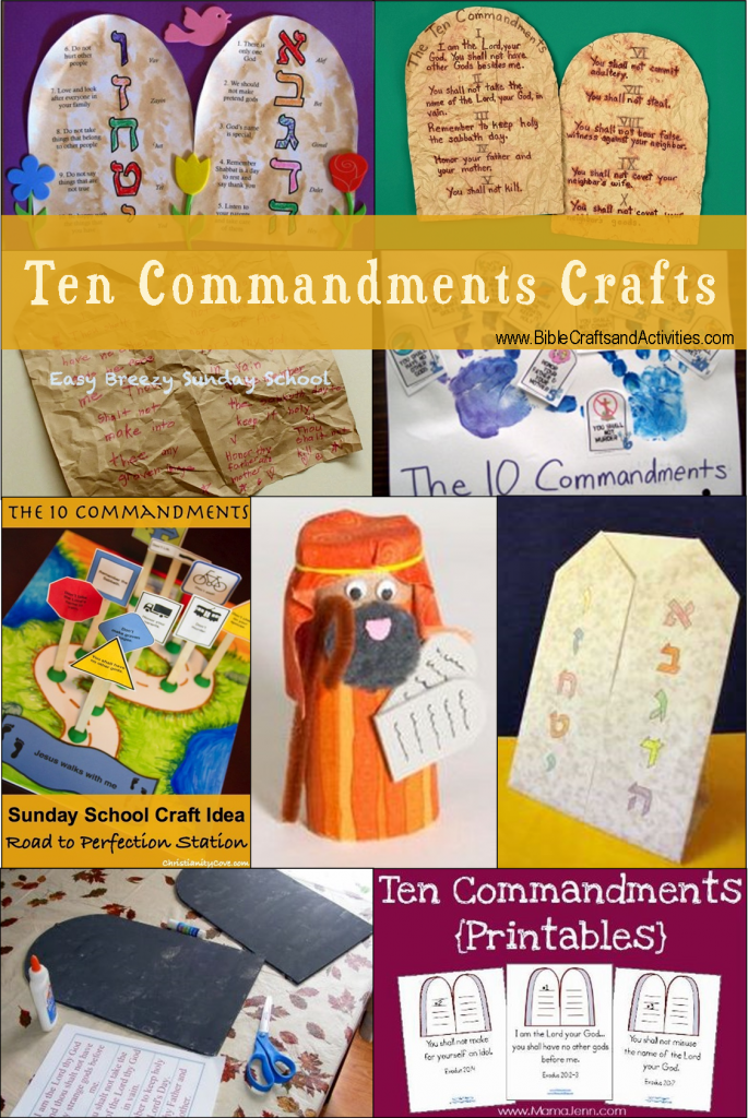 craft ideas for the 10 commandments links to templates and