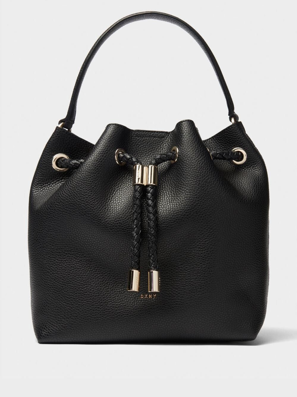de96788d12 Dkny Alice Large Leather Bucket Bag - Black/Gold Unsized Item ...