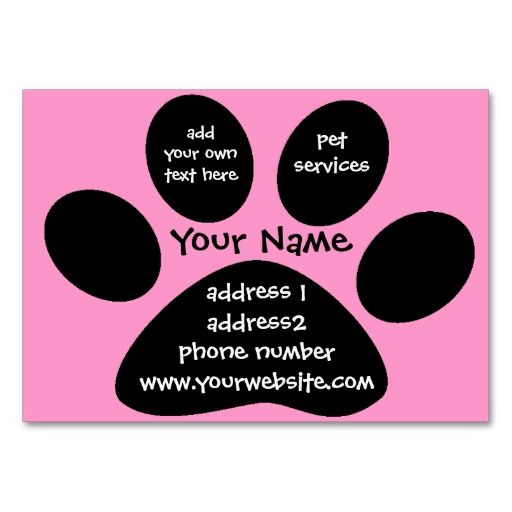 Paw Print Profile Card Zazzle Com Paw Print Customizable Business Cards Pet Care Business