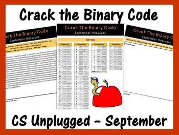 Crack The Binary Code September Message Cs Unplugged Skill
