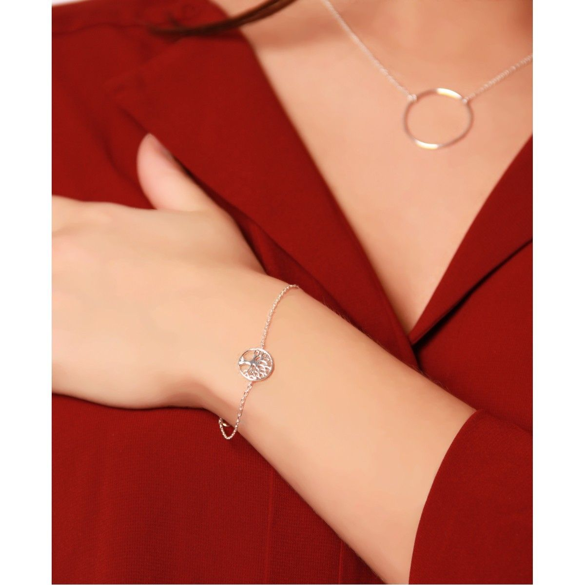 La vie en or bracelet en argent
