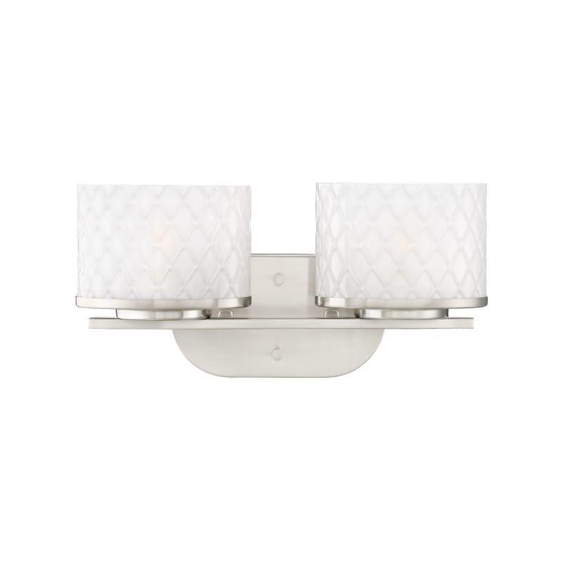 Photo of Miseno ML5715VL Shelburne 2 Light 15″ Wide LED Bathroom Vanity Light Brushed Nickel Indoor Lighting Bathroom Fixtures Vanity Light