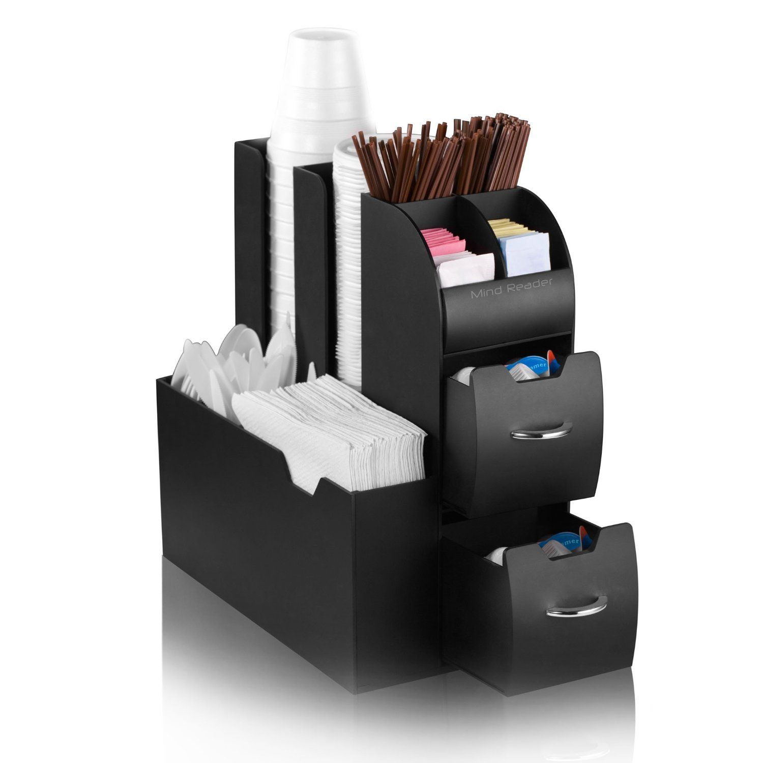Great Mind Reader Coffee Station Caddy Organizer In Black     The Mind Reader  Organizer Is An All In One, Compact Unit To Hold Your Single Serve Coffee  And Othe