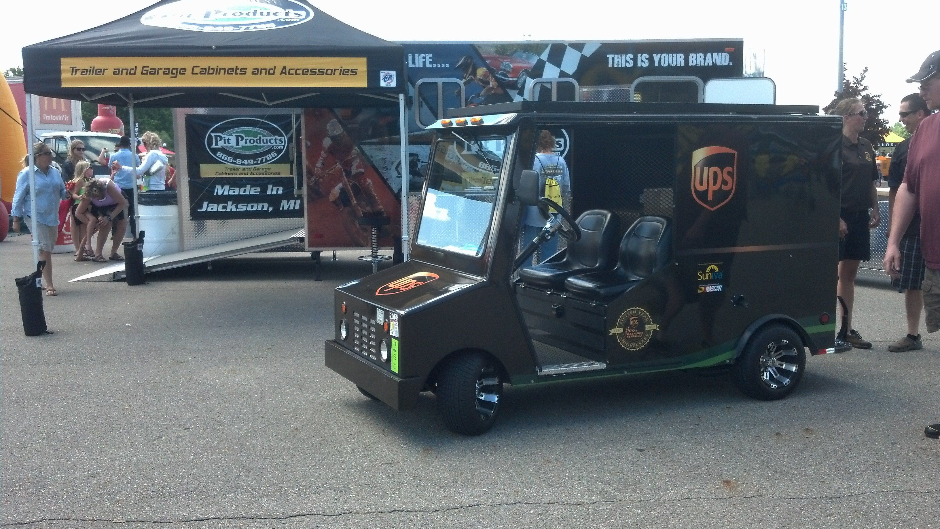 We Had A Visit From This Mini Ups Truck At Our Trailer With