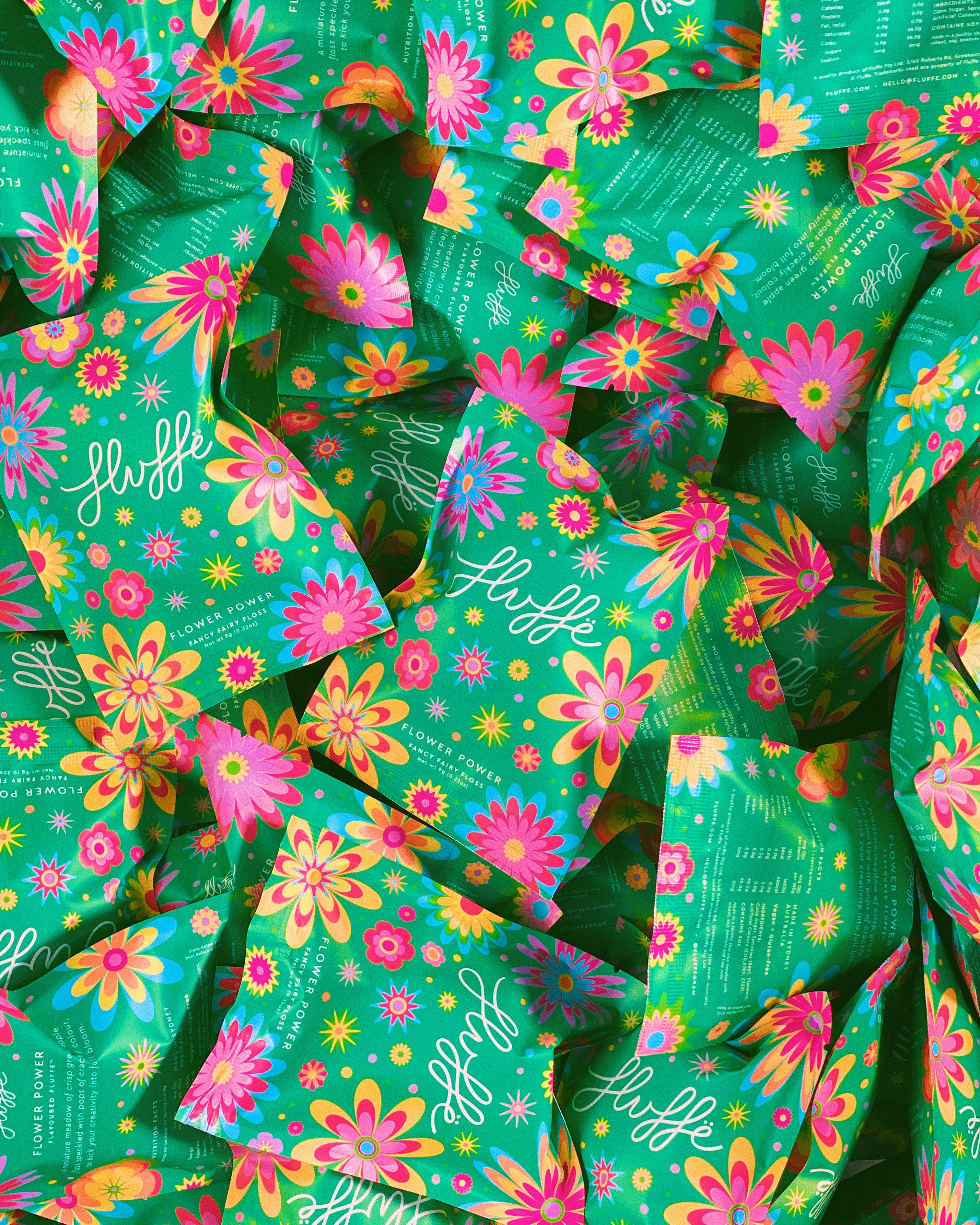Fluffe Flower Power In 2020 Rainbow Sprinkles Fairy Floss Flowers
