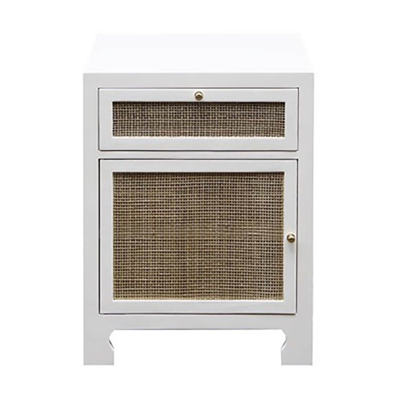 One Door Cabinet With Cane Door Front In White Lacquer Color White Accent Doors Accent Cabinet Cabinet