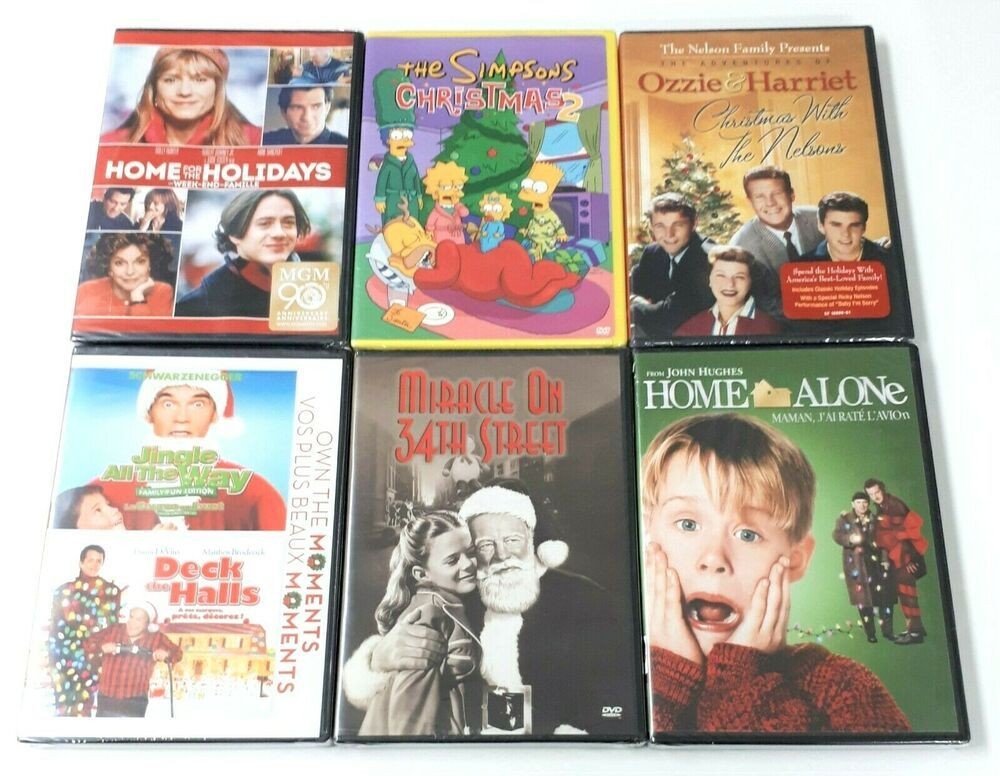 Lot of 6 Christmas DVD Movies and TV Shows Home Alone