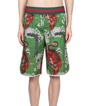 7badcc56c GUCCI Bengal printed swim shorts. #gucci #cloth # | Gucci Men ...